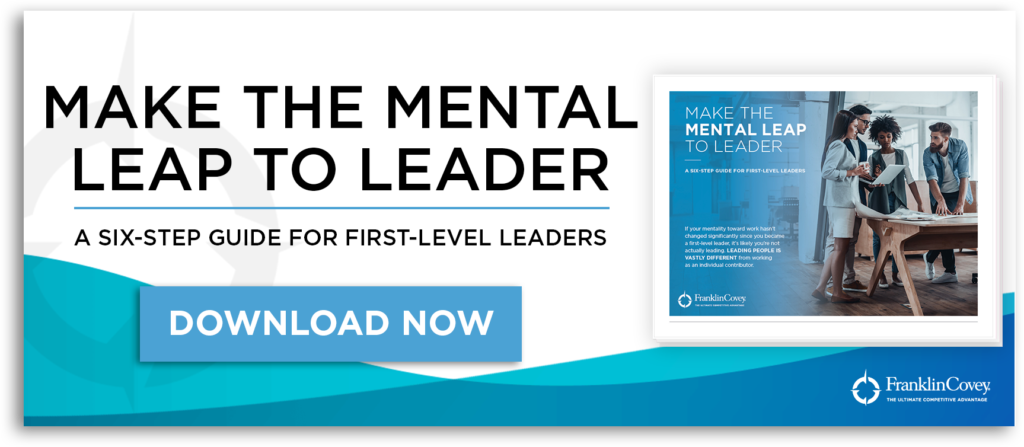 make the mental leap to leader